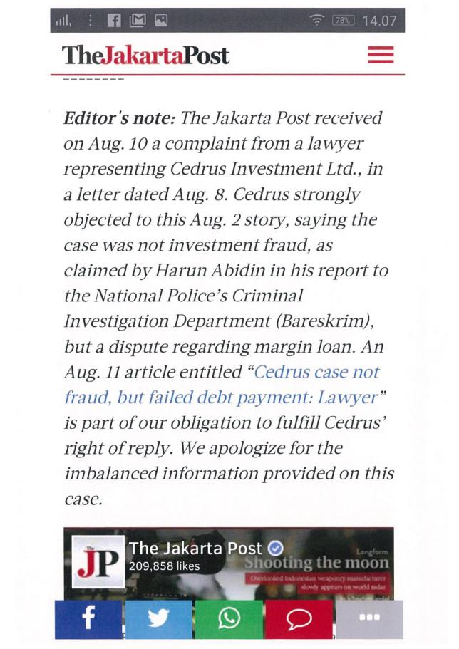 the-jakarta-post-apologize-to-cedrus-investments-for-misleading-and-inaccurate-reporting